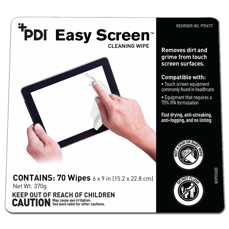 Sani-Cloth Easy Screen Cleaning Wipe (70/can) by PDI - MedStockUSA.com