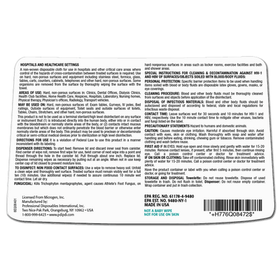 Sani-Cloth XL HB Germicidal Disposable Wipes (65/can) by PDI - MedStockUSA.com
