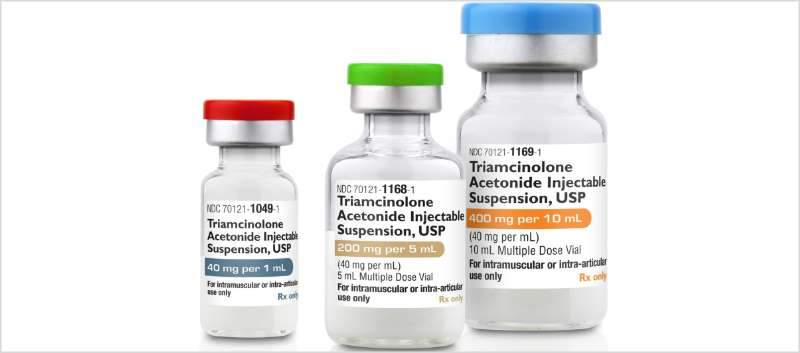 Triamcinolone Acetonide Injectable SDV 40mg/mL; 1mL (25/box) by Amneal BioServices - MedStockUSA.com