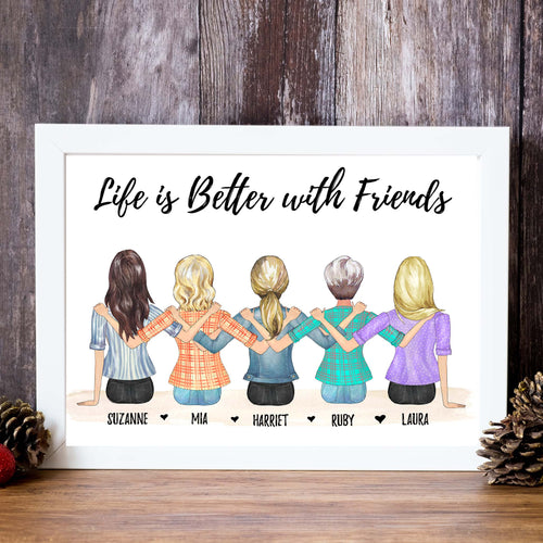 theta_jewellery_Friends (sitting) Personalised Print