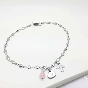 Heart Charm Anklet