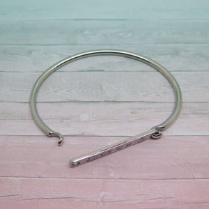 Personalised Bangle with catch open