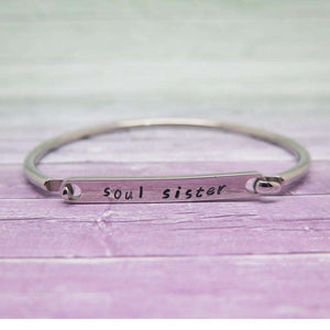 Good Luck Gift - Personalised Bangle