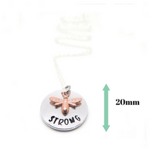 Bee Strong Necklace - with measurements