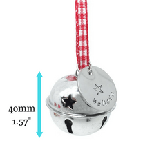 Believe Sleigh Bell with dimensions