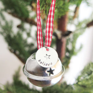 Believe Bell Christmas Tree Ornament