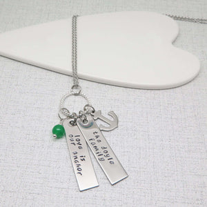 Personalised Family Anchor Necklace