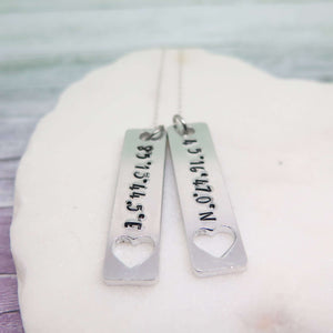 Latitude and Longitude Necklace
