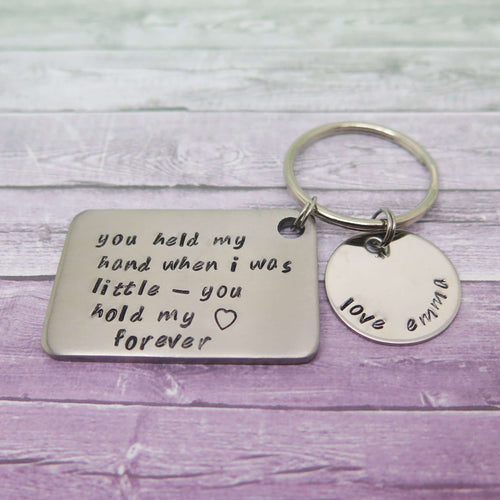 Personalised Keyring Gift from Daughter