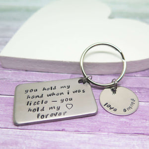 Personalsed Keyring gift from Daughter