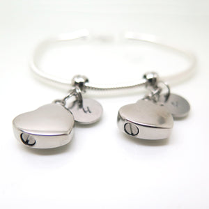 theta_jewellery_Double Cremation Urn Jewellery - Bracelet with Two Urns