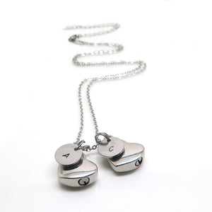 theta_jewellery_Double Cremation Urn Jewellery - Necklace with Two Urns
