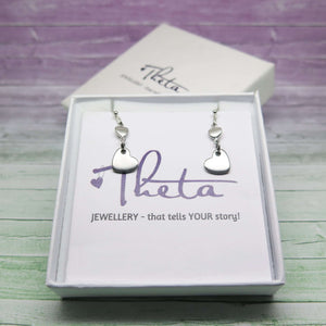 Heart Drop Earrings in Gift Box