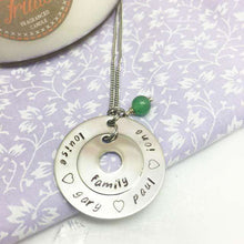 Personalised Two Circle Necklace