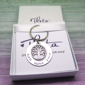 Family Tree Keyring in a gift box