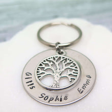 Best Dad Keyring personalised with names