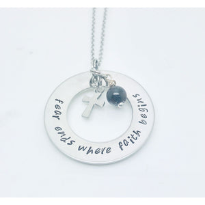 theta_jewellery_Fear Ends Where Faith Begins Necklace