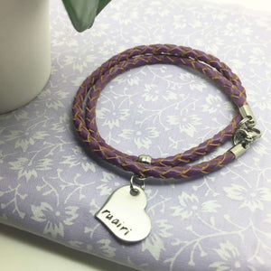 Personalised Friendship Heart Bracelet