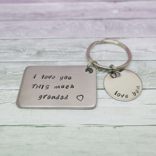 theta_jewellery_Family Sayings Keyring for Grandad