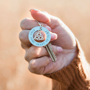 Friendship Keyring in a Woman's Hand