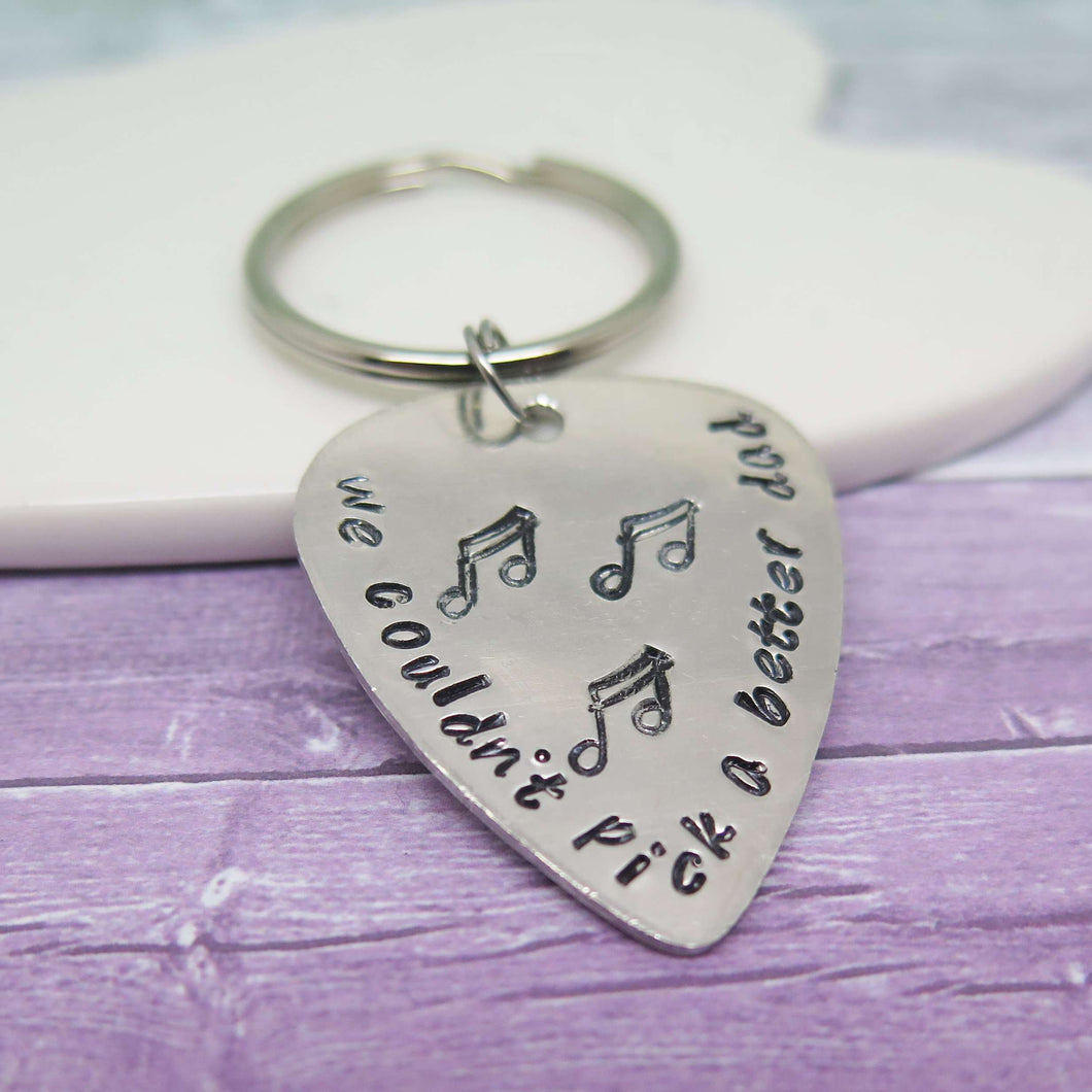 Personalised Guitar Pick Gift for Dad from Daughter