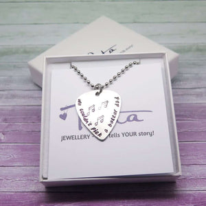 Personalised Guitar Pick in a Gift Box