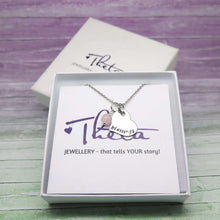 Personalised Heart Necklace in a Gift Box