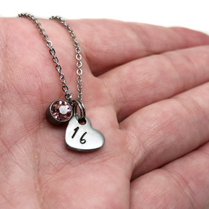 theta_jewellery_16th Birthday Heart Necklace