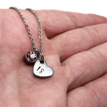 theta_jewellery_18th Birthday Heart Necklace