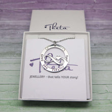 Personalised Infinity Necklace in a gift box