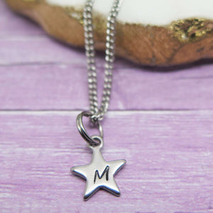 theta_jewellery_Initial Star Necklace