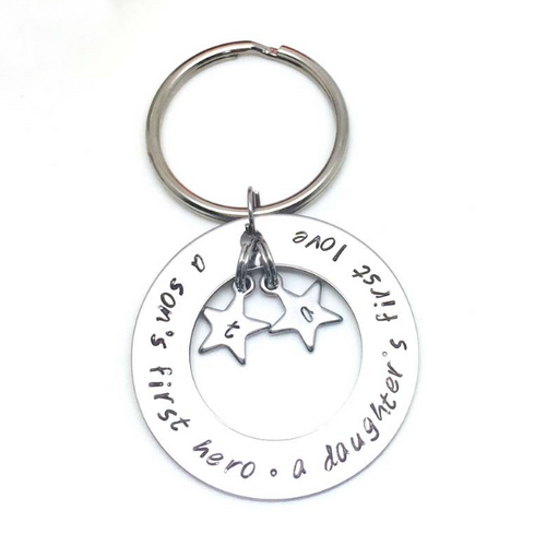 Family Keyring Personalised with Initials