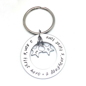 theta_jewellery_Family Sayings Initial Keyring