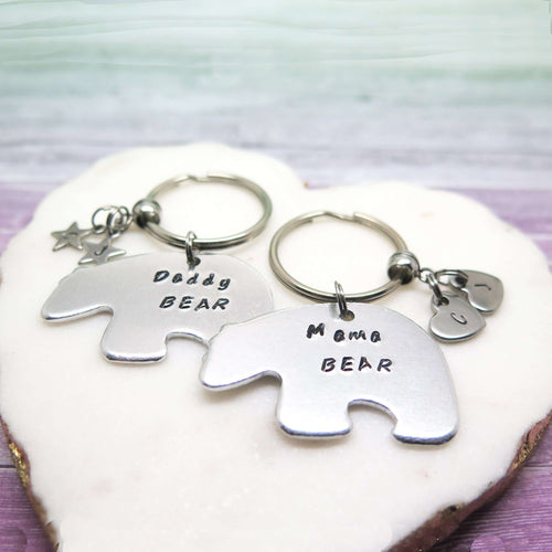 Mama & Daddy Bear Keyring Set
