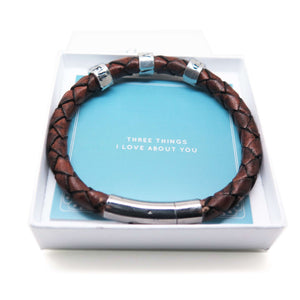 Men's Leather Bracelet #ShareYourThree