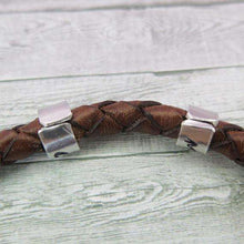 Back of Cuff Beads on Leather Bracelet