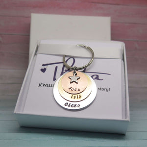 Personalised Metal Keyring in Gift Box