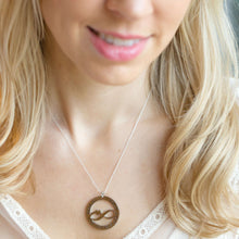Necklace designed for your wife - hand stamped with 'I love our happily ever after' on a model