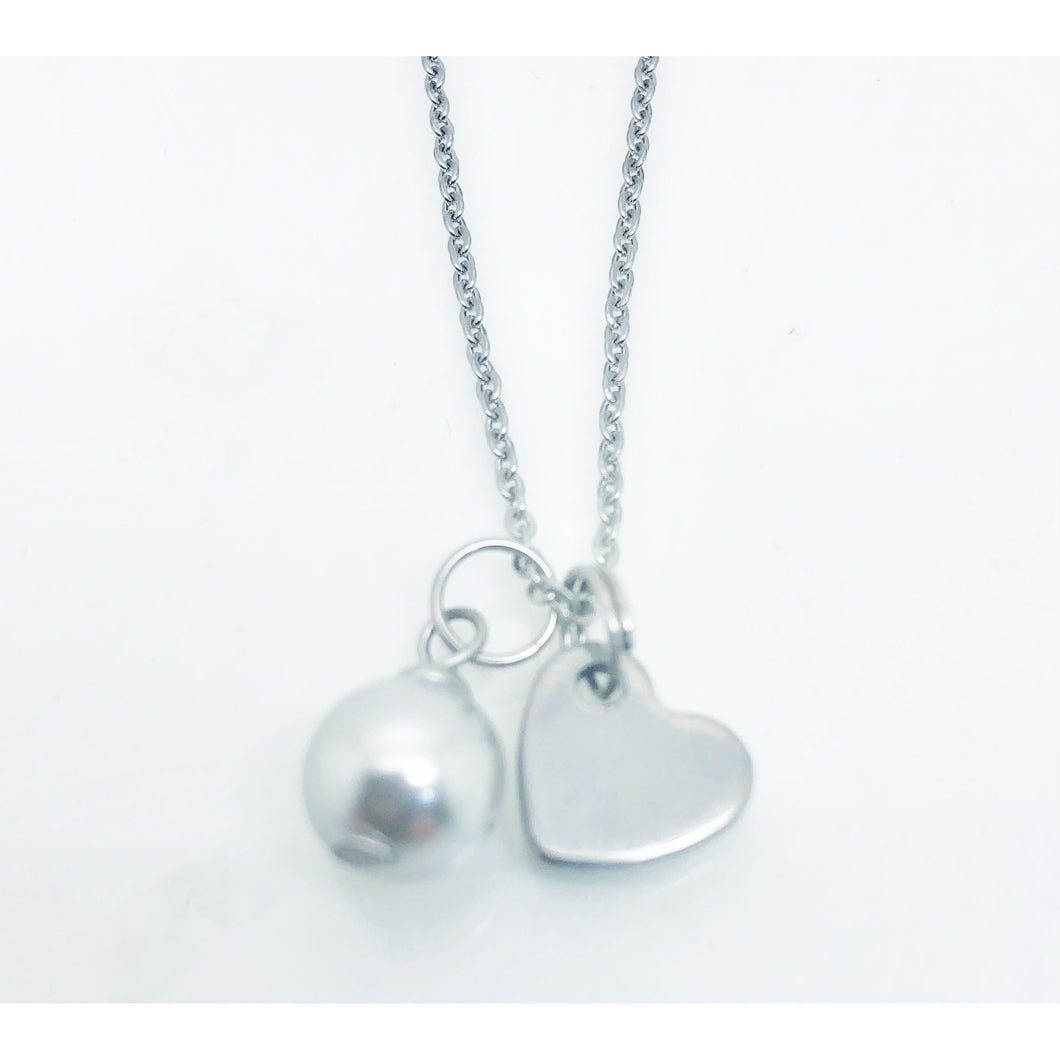 theta_jewellery_Pearl and Heart Necklace