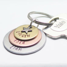 theta_jewellery_Personalised Aluminium, Copper and Brass Keyring