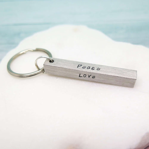 theta_jewellery_Personalised Bar Keyring