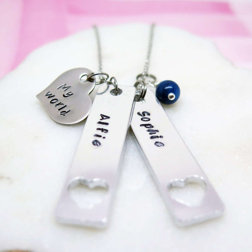 theta_jewellery_Personalised Family Necklace - My World