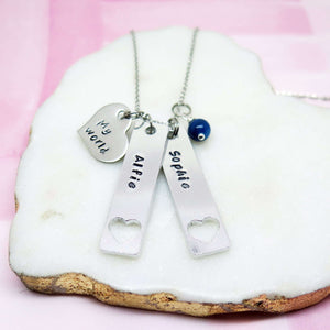 Personalised Family My World Necklace