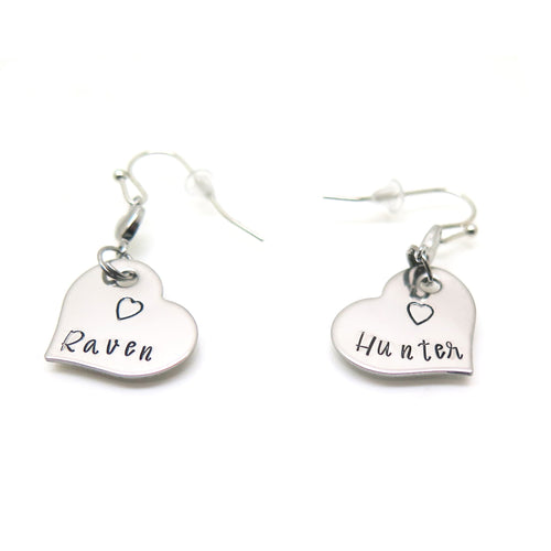 theta_jewellery_Personalised Heart Earrings