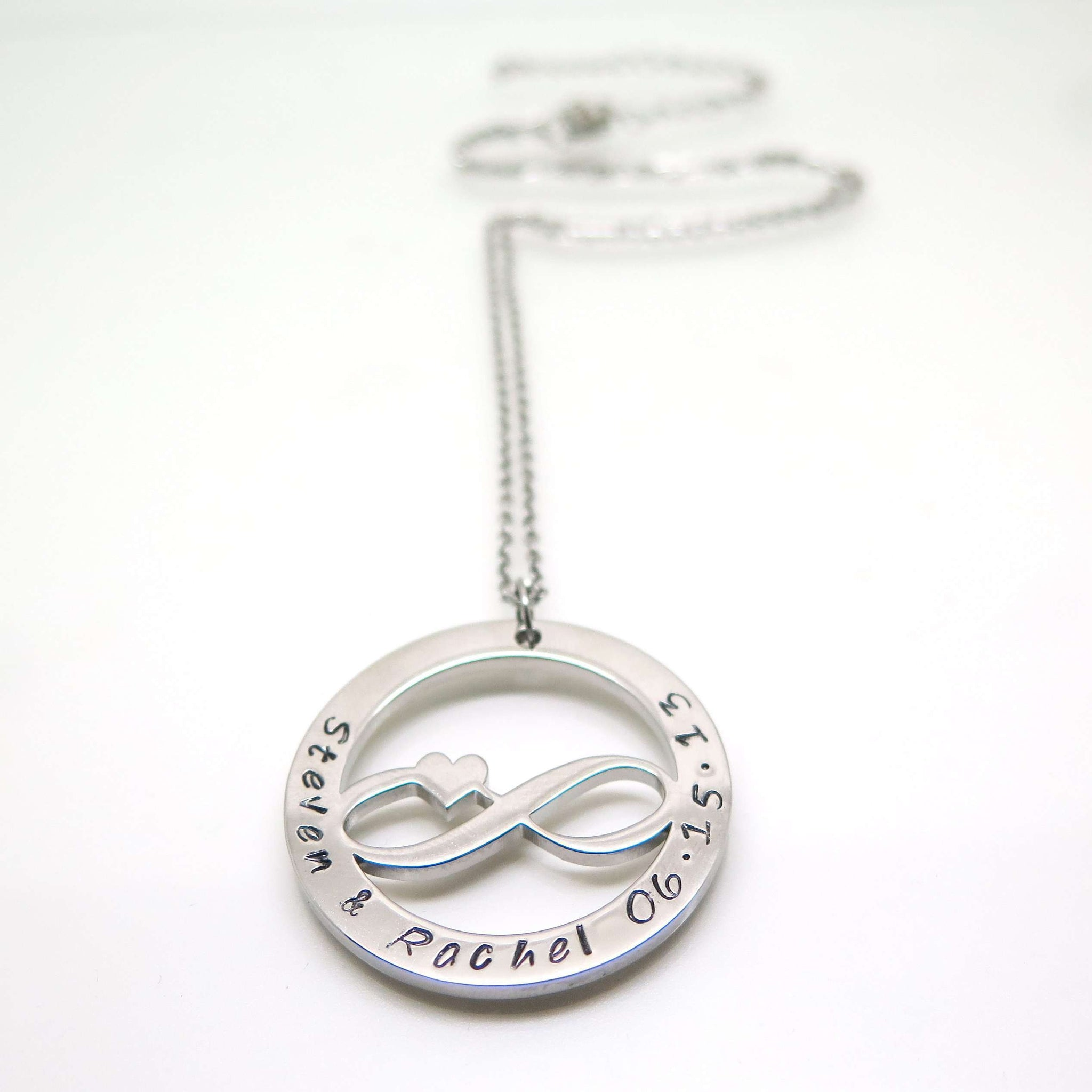 symbol white infinity necklace in gold