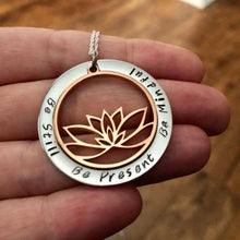 Personalised Lotus Necklace