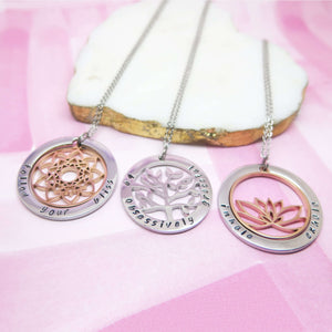 Mandala, Tree of Life and Lotus Necklaces