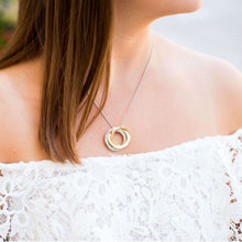 Russian Ring Necklace on a model