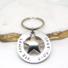 theta_jewellery_Personalised Star Keyring