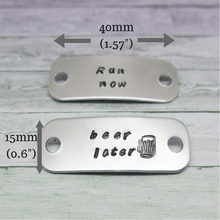 Personalised Trainer Tags with measurements
